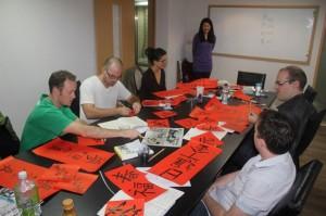 A Mandarin calligraphy class at TMI