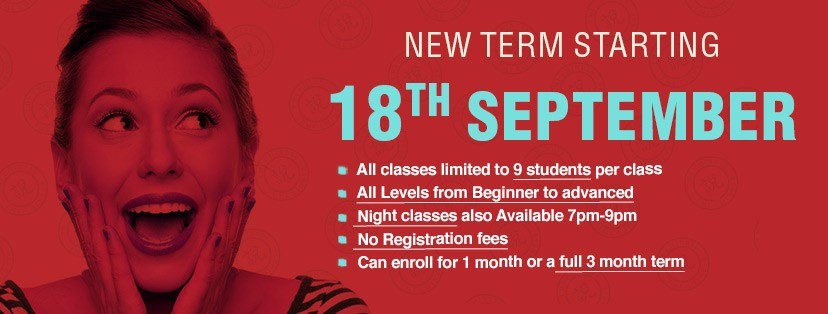 New Term Starting 18th September 2017