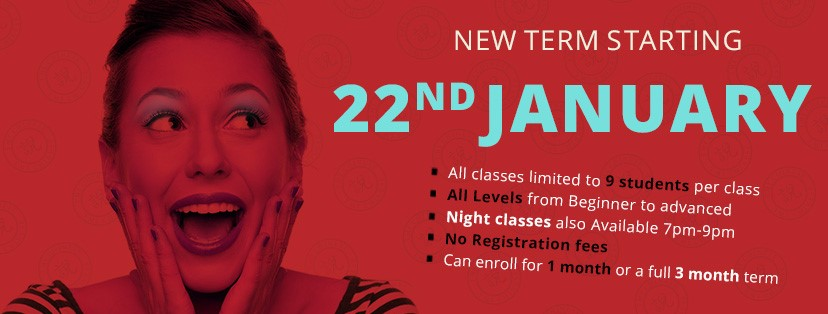 New Term Starting 22nd January 2018